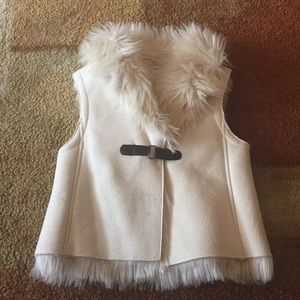 Copper Key Faux Suede & Fur Vest